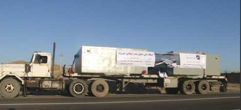 Concrete Pontoons heading to Chirouyeh Fishing Port, Persian Gulf