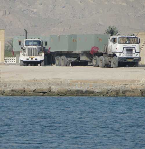 Concrete Pontoons arrived at Chirouyeh Fishing Port, Persian Gulf