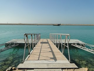 Gangway and floating concrete deck, Chirouyeh, Hormozgan, Persian Gulf