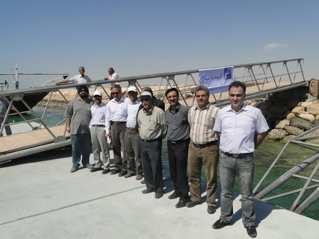 Provisional take over of floating concrete structures, Chirouyeh, Persian Gulf