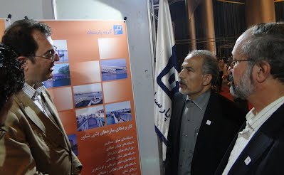 Iran's top marine authorities of Caspian Sea visit Parsian Booth in CCIMO 2012, Kish, Persian Gulf