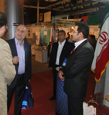 Eng Seyed Poor, Managing Director of Caspian Sea, Mazandaran PMO Iran's top marine authorities visit Parsian Booth in CCIMO 2012, Kish, Persian Gulf