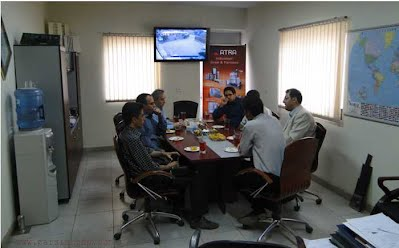 VIP delegate from Iran Fishery Organization reviewing test reports and qc analysis documents  in Parsian Workshop and marine-grade stainless steel gangway and truss arms for rostami fishery port, Persian Gulf