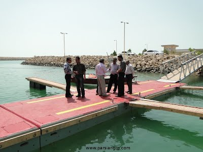 Deligates from client (Iran Fishery Org.) visit the 1st BTG mooring system in Rostami harbour